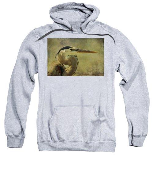 Heron On Texture Sweatshirt