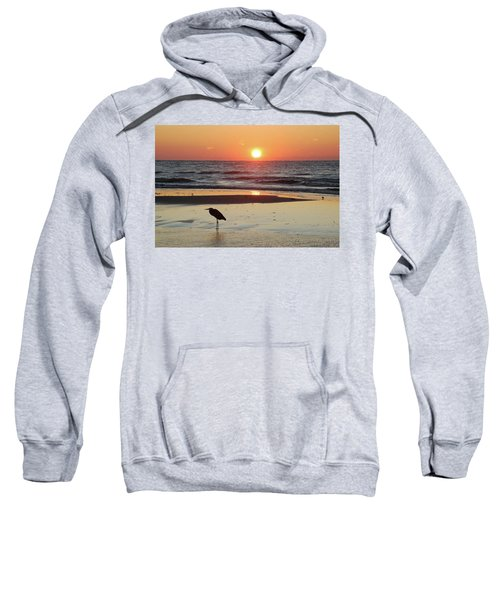 Heron Watching Sunrise Sweatshirt