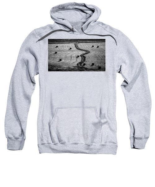 Sweatshirt featuring the photograph High Mountain Hay Field #2 by Stephen Holst