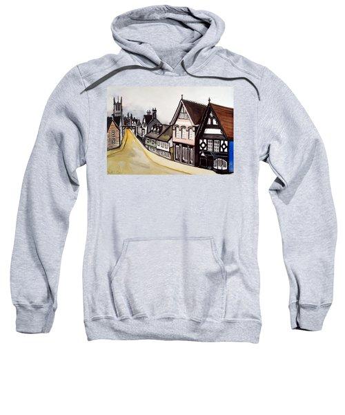 High Street Of Stamford In England Sweatshirt by Dora Hathazi Mendes