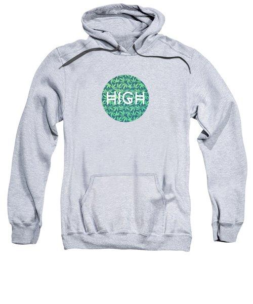 High Typo  Cannabis   Hemp  420  Marijuana   Pattern Sweatshirt