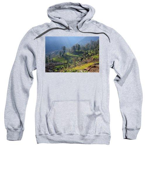 Himalayan Stepped Fields - Nepal Sweatshirt