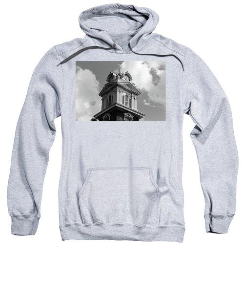 Historic Courthouse Steeple In Bw Sweatshirt