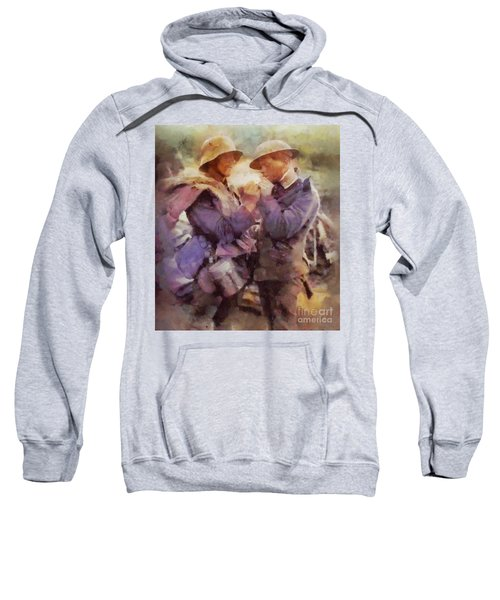 History In Color. Wwi Truce In The Trenches Sweatshirt