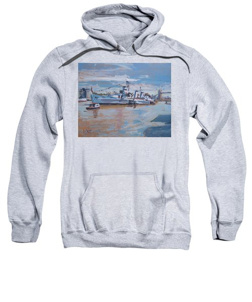 Hms Belfast Shows Off In The Sun Sweatshirt