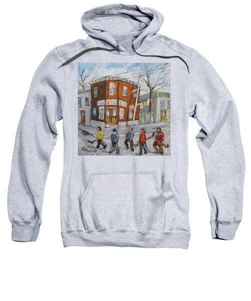 Hockey Town Montreal Created By Prankearts Sweatshirt