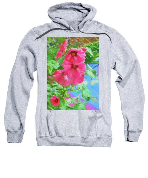 Hollyhocks - 3 Sweatshirt