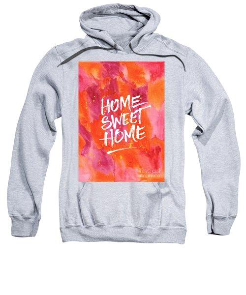 Home Sweet Home Handpainted Abstract Orange Pink Watercolor Sweatshirt