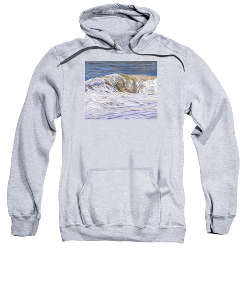 Sweatshirt featuring the painting Honey Wave by Lawrence Dyer