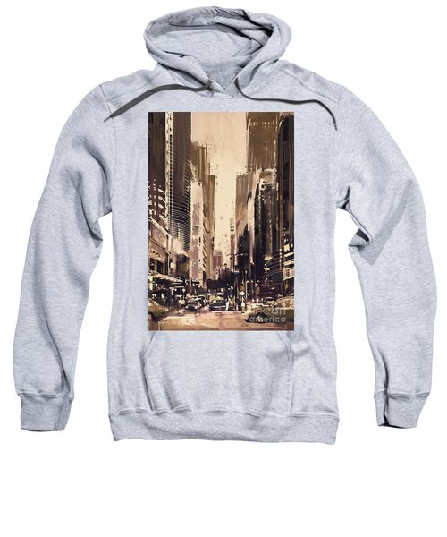 Hong-kong Cityscape Painting Sweatshirt