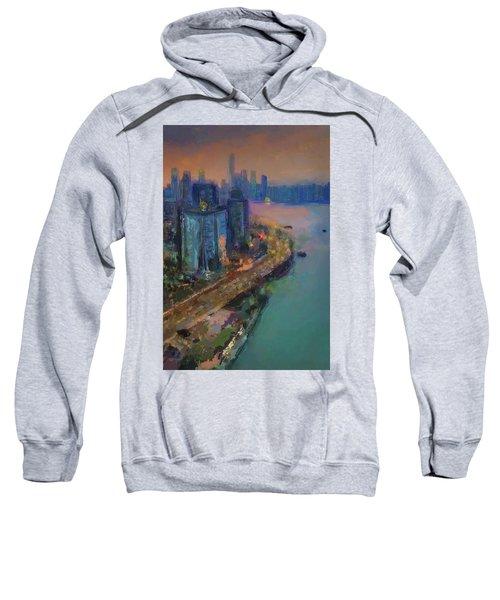 Hong Kong Skyline Painting Sweatshirt