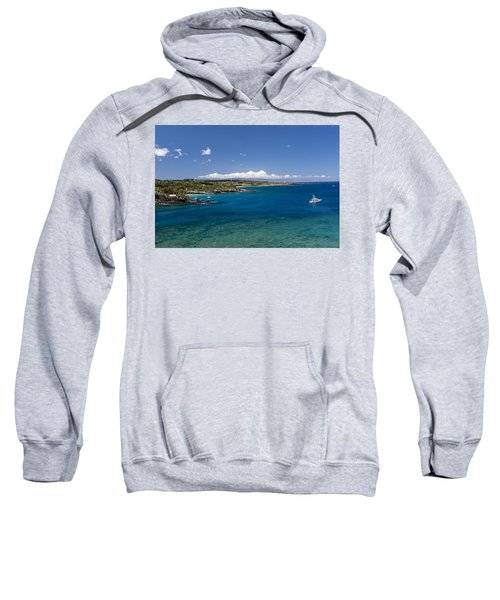 Sweatshirt featuring the photograph Honolua Bay by Jim Thompson