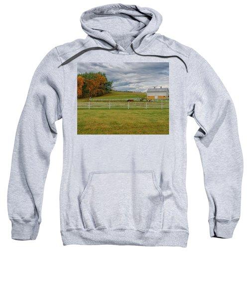 Horse Barn In Ohio  Sweatshirt