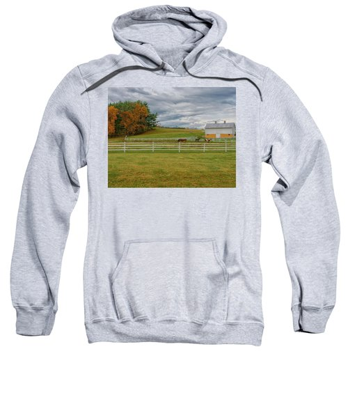 Horse Barn In Ohio  Sweatshirt