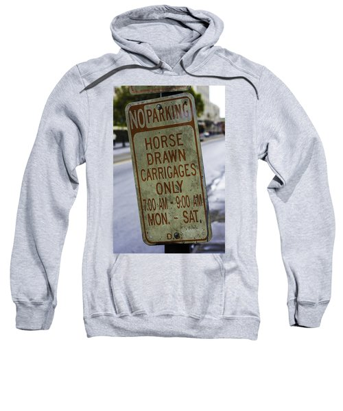 Horse Drawn Carriage Parking Sweatshirt