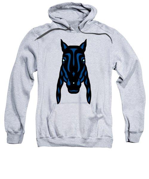Horse Face Rick - Horse Pop Art - Primrose Yellow, Lapis Blue, Island Paradise Blue Sweatshirt by Manuel Sueess