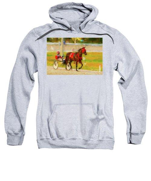 Horse, Harness And Jockey Sweatshirt