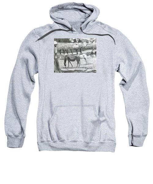 Horses And Trees In Bloom Sweatshirt