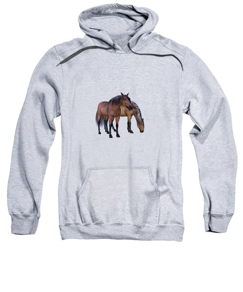 Horses In A Misty Dawn Sweatshirt