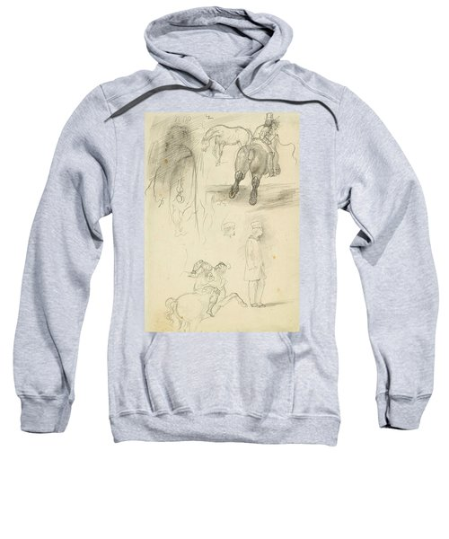Horses Riders And A Young Man Sweatshirt