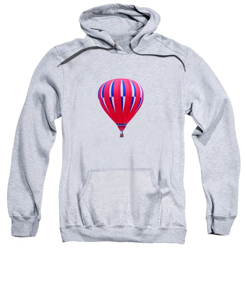Hot Air Balloon - Red White Blue - Transparent Sweatshirt