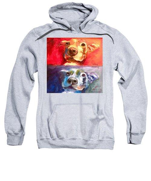 Hot Dog Chilly Dog Study Sweatshirt