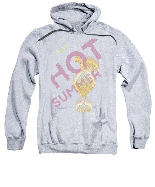 Hot Hot Summer - Burning Ice Cream Bowl - White Sweatshirt