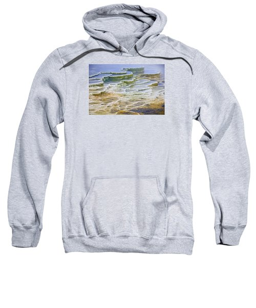 Sweatshirt featuring the photograph Hot Springs Runoff by Gary Lengyel