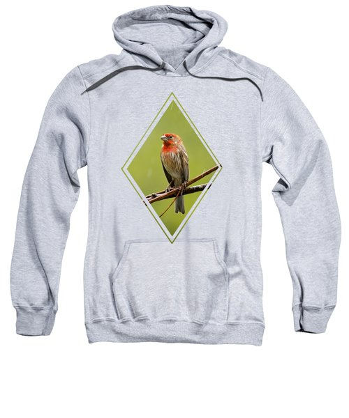 House Finch In The Rain Sweatshirt by Christina Rollo