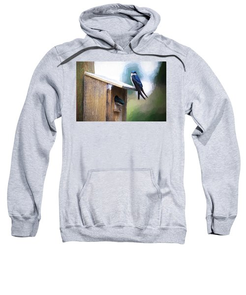 Sweatshirt featuring the photograph House Of Bluebirds by James BO Insogna