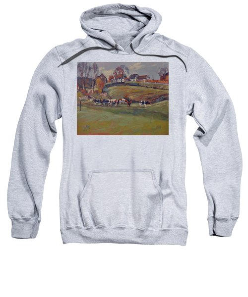 Houses And Cows In Schweiberg Sweatshirt