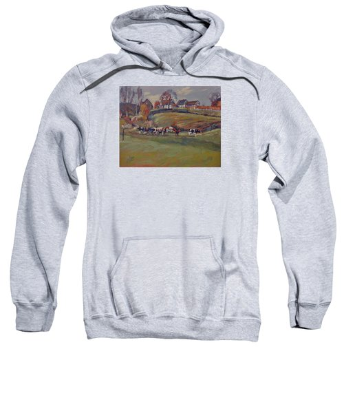 Houses And Cows In Schweiberg Sweatshirt