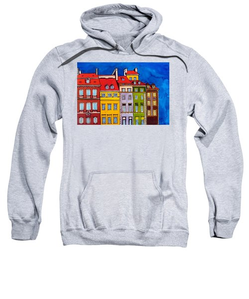 Houses In The Oldtown Of Warsaw Sweatshirt by Dora Hathazi Mendes