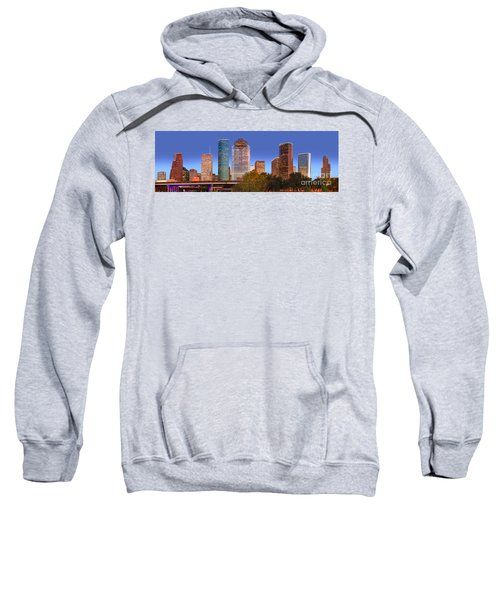 Houston Texas Skyline At Dusk Sweatshirt