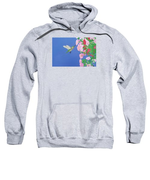 Hummingbird And Petunias Sweatshirt