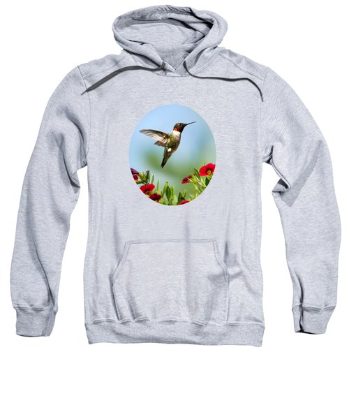 Hummingbird Frolic With Flowers Sweatshirt