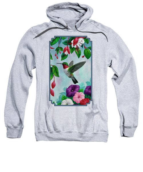 Hummingbird Greeting Card 1 Sweatshirt by Crista Forest