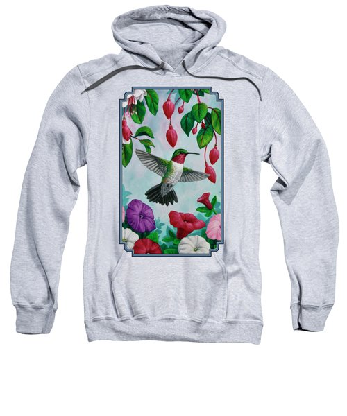 Hummingbird Greeting Card 2 Sweatshirt
