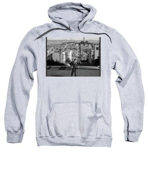 Humphrey Bogart Film Noir Dark Passage Telegraph Hill And Coit Tower San Francisco 1947 Sweatshirt
