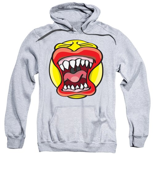 Sweatshirt featuring the drawing Hungry Pacman by Jorgo Photography - Wall Art Gallery