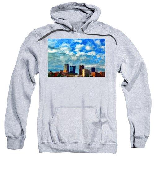 Huntsville Alabama Skyline Abstract Art Sweatshirt