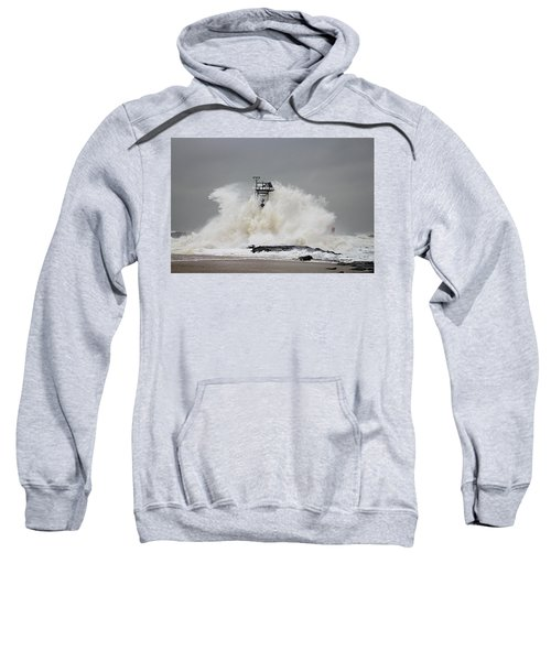 Hurricane Jose Wave At The Inlet Jetty Sweatshirt