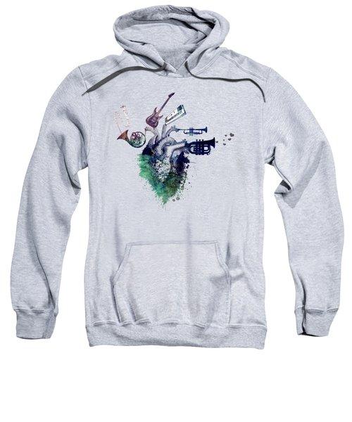 I Love Music - Music My Love Sweatshirt by Justyna JBJart