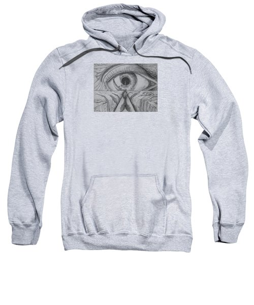 Sweatshirt featuring the drawing I Shadow by Charles Bates