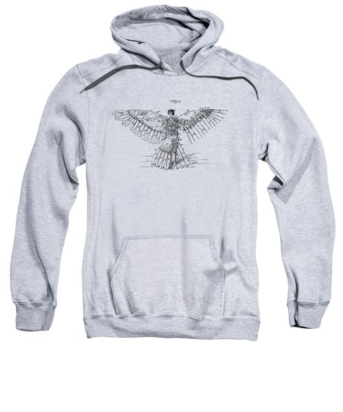 Icarus Human Flight Patent Artwork - Vintage Sweatshirt