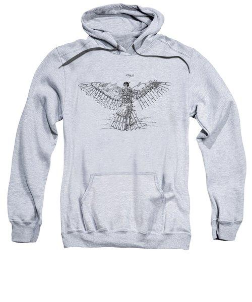 Icarus Human Flight Patent Artwork - Vintage Sweatshirt