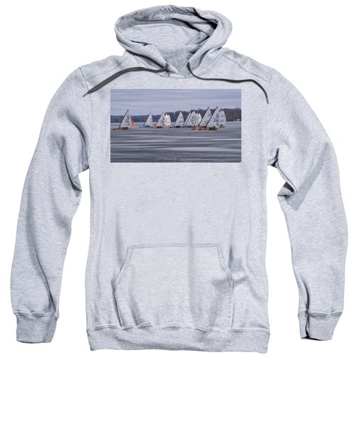 Ice Boat Racing - Madison - Wisconsin Sweatshirt