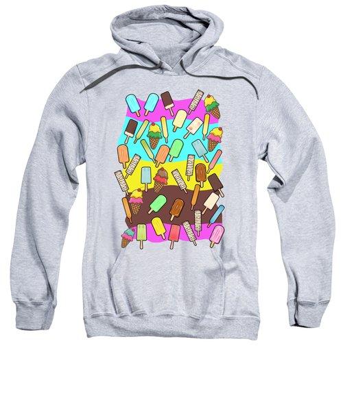 Ice Cream Treats Illustration Sweatshirt
