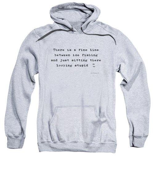 Ice Fishing Fine Line Verse Sweatshirt