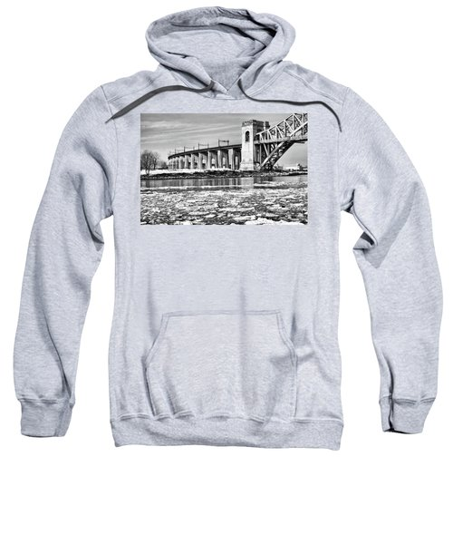 Ice Flows On The East River Sweatshirt